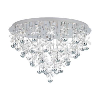 Eglo Pianopoli LED 31 inch Chrome Flush Mount Ceiling Light
