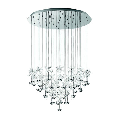 Eglo Pianopoli LED 31 inch Chrome Multi Light Pendant Ceiling Light