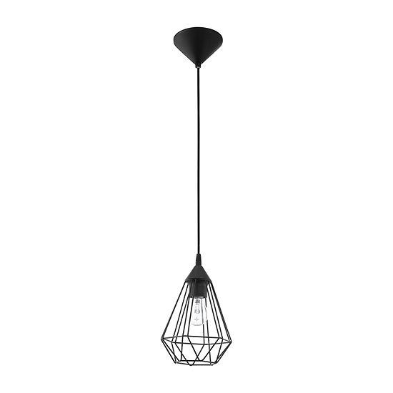Eglo Tarbes 1-Light 7 inch Matte Black Pendant Ceiling Light