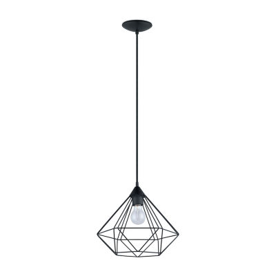 Eglo Tarbes 1-Light 13 inch Matte Black Pendant Ceiling Light