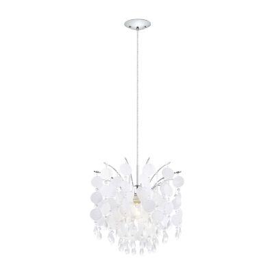 Eglo Fedra 1-Light 15 inch Chrome Chandelier Ceiling Light