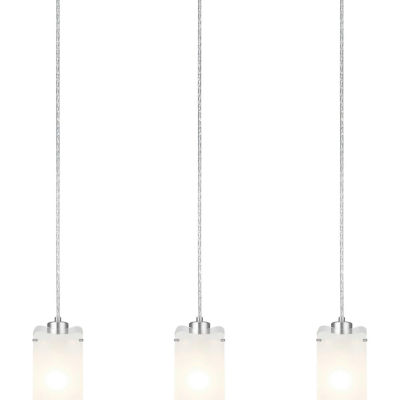 Eglo Felice 3-Light 28 inch Matte Nickel Trestle Hanging Light Ceiling Light