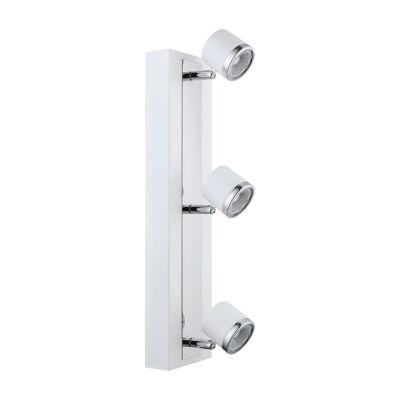 Eglo Pierino 1 3-Light 120V White and Chrome Track Ceiling Light
