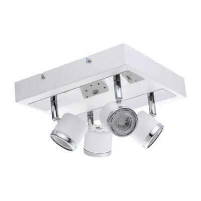 Eglo Pierino 1 4-Light 120V White and Chrome Track Ceiling Light