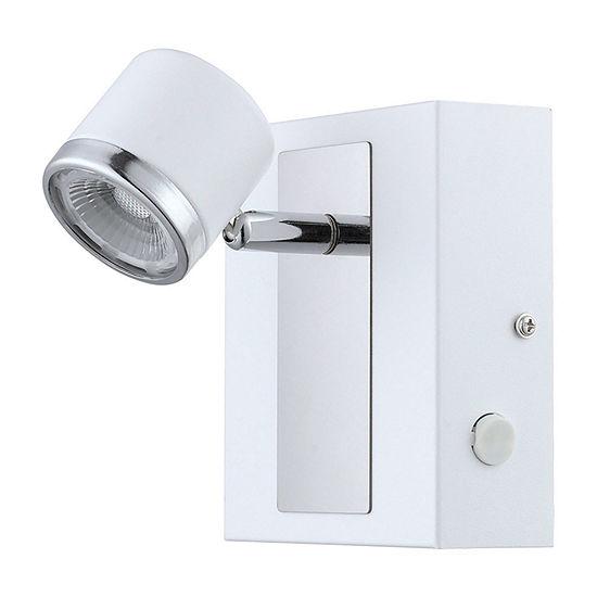 Eglo Pierino 1 LED 5 inch White and Chrome Wall Light