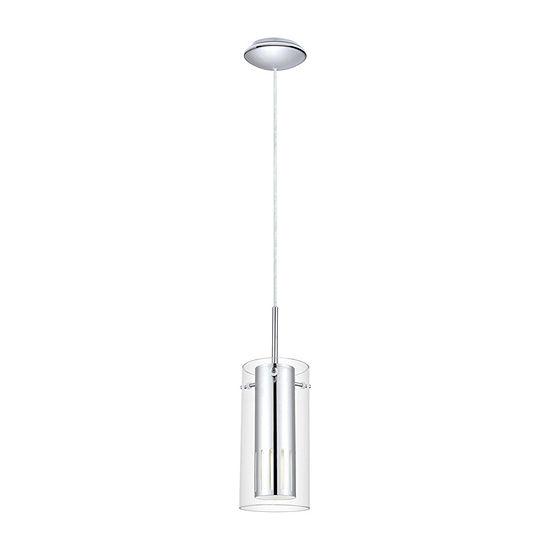 Eglo Pinto 1 Light 5 Inch Chrome Mini Pendant Ceiling Light