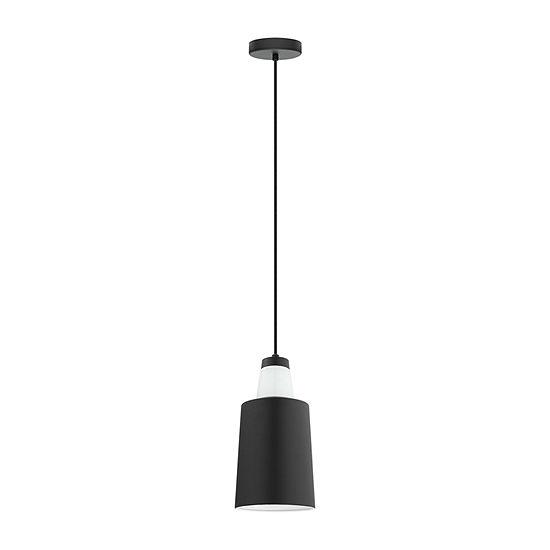 Eglo Tabanera 1-Light 6 inch Black and White Mini Pendant Ceiling Light