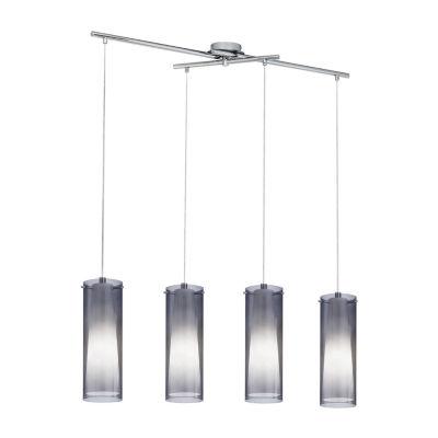 Eglo Pinto Nero 4-Light 36 inch Matte Nickel Trestle Hanging Light Ceiling Light