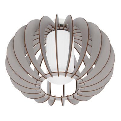 Eglo Stellato Colore 1-Light 11 inch Grey Semi Flush Mount Ceiling Light