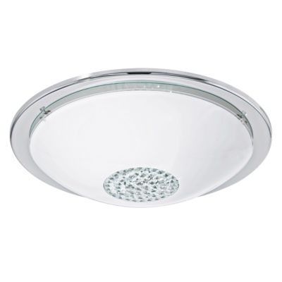 Eglo Giolina LED 15 inch Chrome Flush Mount Ceiling Light