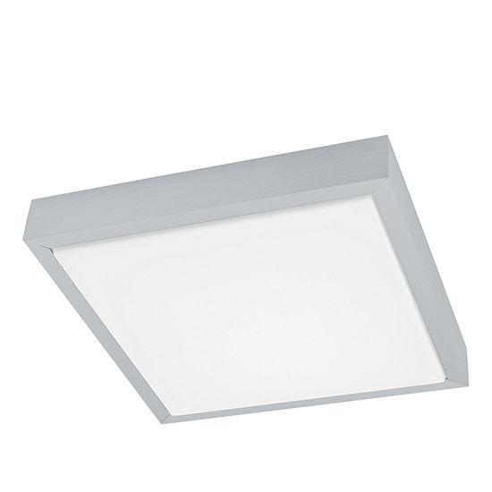 Eglo Idun LED 11 inch Brushed Aluminum Flush Mount Square Ceiling Light