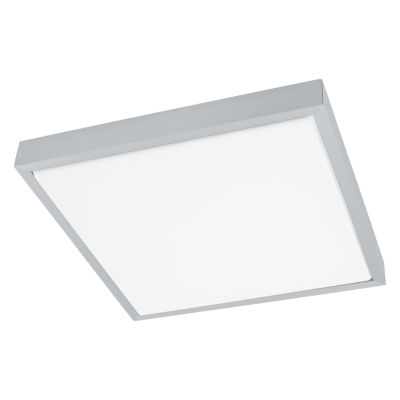 Eglo Idun LED 15 inch Brushed Aluminum Flush Mount Square Ceiling Light