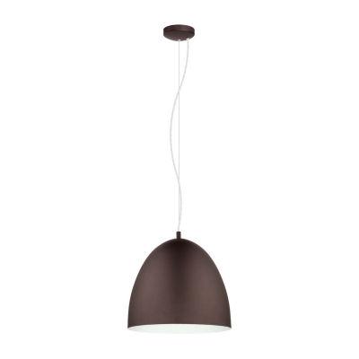 Eglo Sarabia 1-Light Chocolate Brown Pendant Ceiling Light