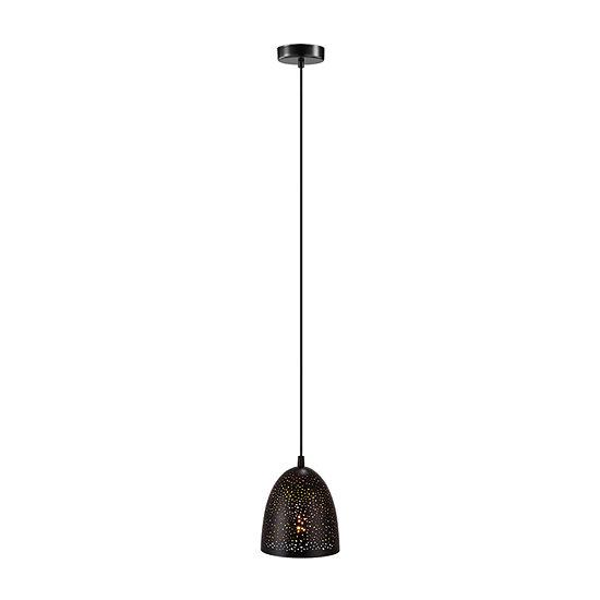 Eglo Safi 1-Light 6 inch Matte Black Mini Pendant Ceiling Light