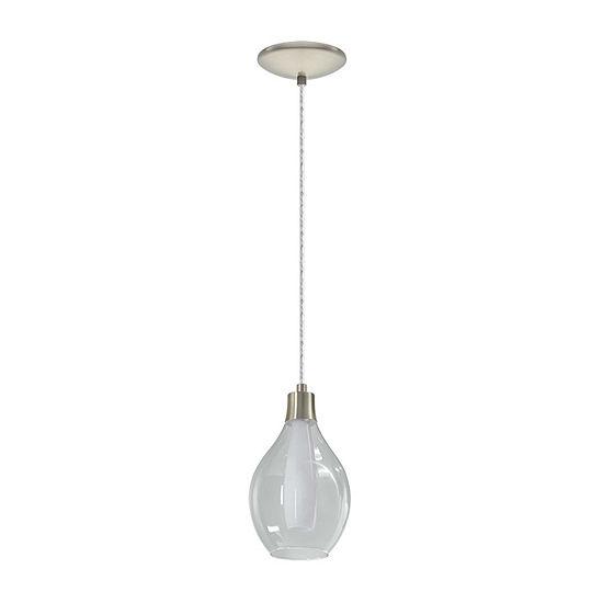 Eglo Pontevedra 1 Light 6 Inch Matte Nickel Mini Pendant Ceiling Light