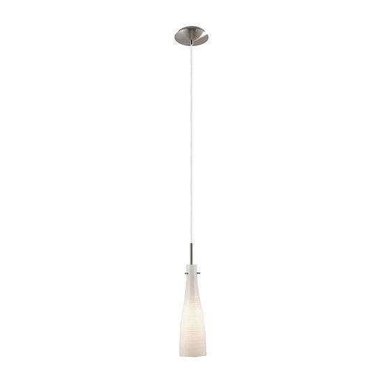 Eglo Kameo 1-Light 5 inch Matte Nickel Mini Pendant Ceiling Light