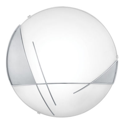 Eglo Raya 1-Light 13 inch Chrome & Satin Wall Light