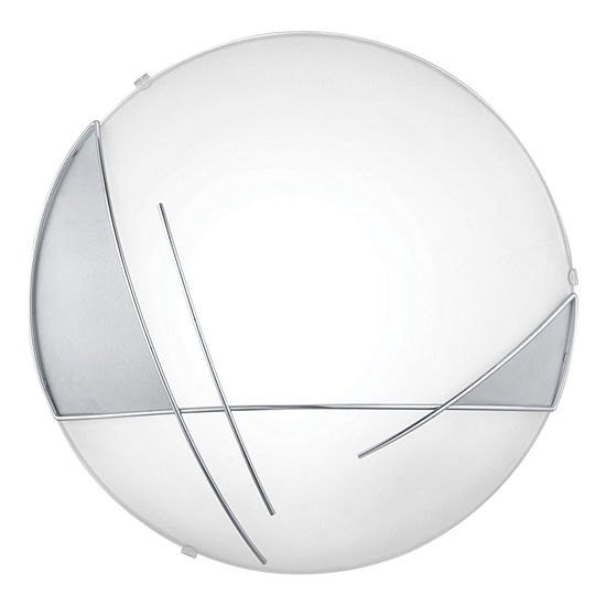Eglo Raya 1-Light 13 inch Chrome & Satin Wall Light