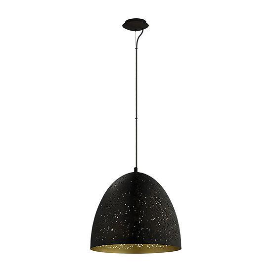 Eglo Safi 1-Light Matte Black Pendant Ceiling Light