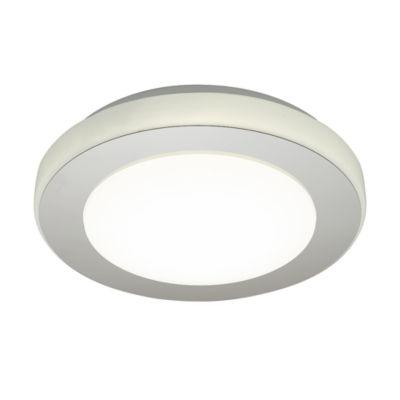 Eglo LED Carpi LED 12 inch Chrome and White FlushMount Ceiling Light