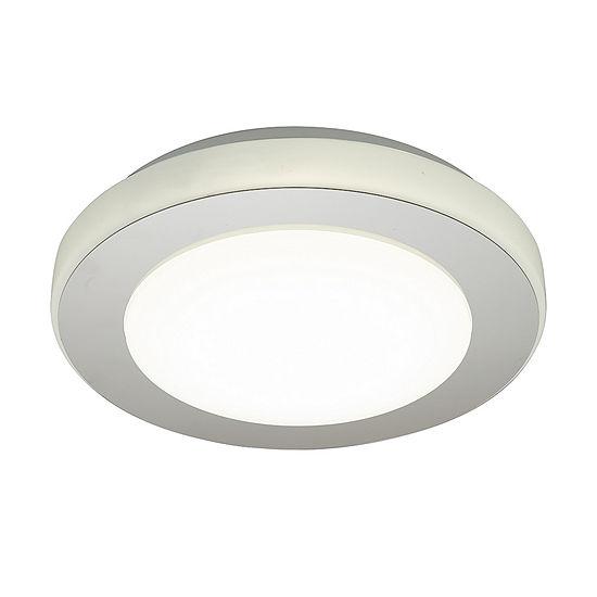 Eglo Carpi LED 12 inch Chrome and White Flush Mount Ceiling Light