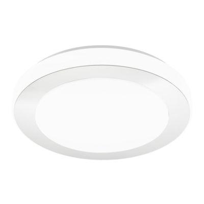 Eglo LED Carpi LED 15 inch Chrome and White FlushMount Ceiling Light