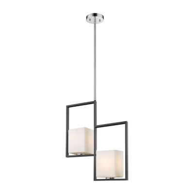 Eglo Regis Falls 2-Light 1 inch Black and Chrome Pendant Ceiling Light