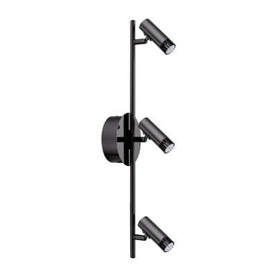 Eglo Lianello 3-Light 120V Black Chrome Wall TrackLight Ceiling Light
