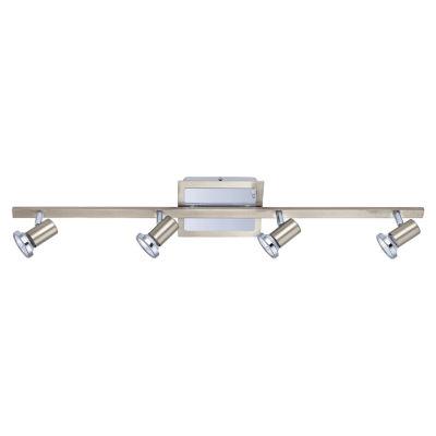 Eglo Rottelo Matte Nickel & Chrome 50 watt 4-Light Spot Light