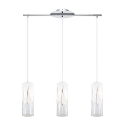 Eglo Rivato 3-Light 6 inch Chrome Pendant Ceiling Light