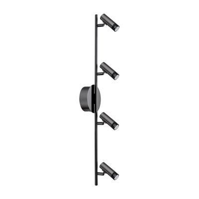 Eglo Lianello 4-Light 120V Black Chrome Wall TrackLight Ceiling Light