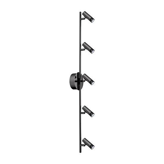 Eglo Lianello 5 Light 120v Black Chrome Wall Track Ceiling Light