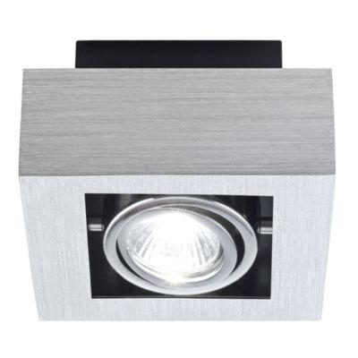 Eglo Loke 1-Light 6 inch Brushed Aluminum Ceiling Mount Light
