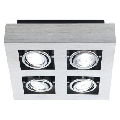 Eglo Loke Brushed Aluminum 20 watt 4-Light Spot Light