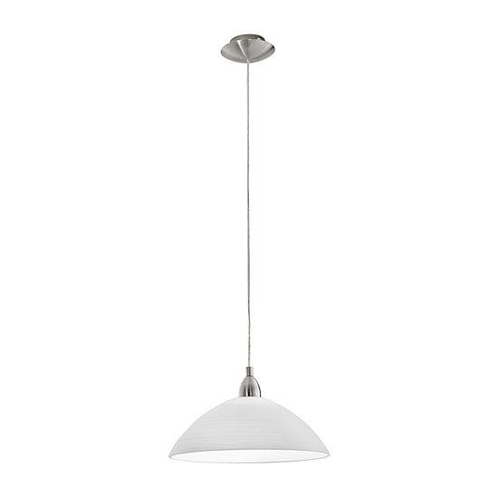 Eglo Lord 1-Light 14 inch Matte Nickel Pendant Ceiling Light