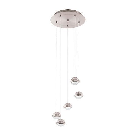 Eglo Lombes LED 14 inch Matte Nickel Multi Light Pendant Ceiling Light