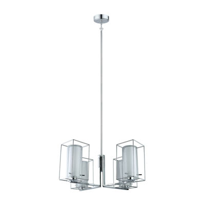Eglo Loncino I 4-Light 28 inch Chrome Chandelier Ceiling Light