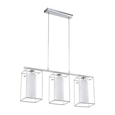 Eglo Loncino I 3-Light 6 inch Chrome Multi Light Pendant Ceiling Light