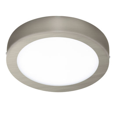 Eglo Fueva I LED Matte Nickel Flush Mount Round Ceiling Light