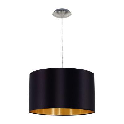 Eglo Maserlo 1-Light 15 inch Satin Nickel PendantCeiling Light