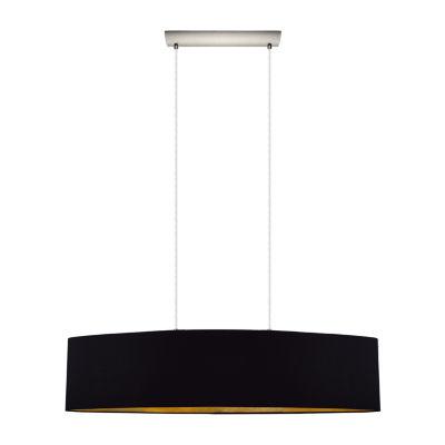 Eglo Maserlo 2-Light 10 inch Satin Nickel PendantCeiling Light