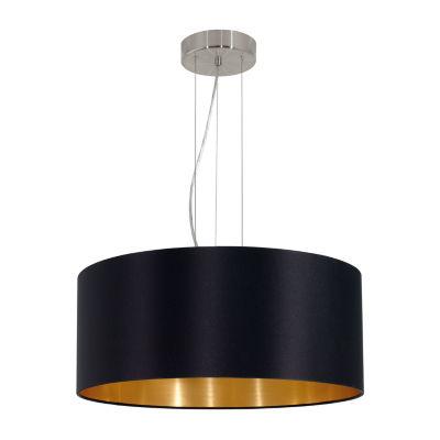 Eglo Maserlo 3-Light 21 inch Satin Nickel Pendant Ceiling Light
