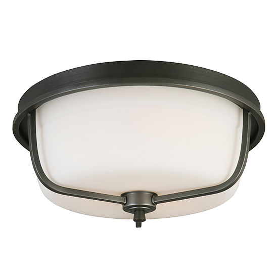 Eglo Mayview 3-Light 16 inch Graphite Flush Mount Ceiling Light