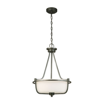 Eglo Mayview 3-Light 16 inch Graphite Inverted Pendant Ceiling Light