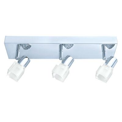 Eglo Nocera 3-Light 120V Chrome Track Light Ceiling Light