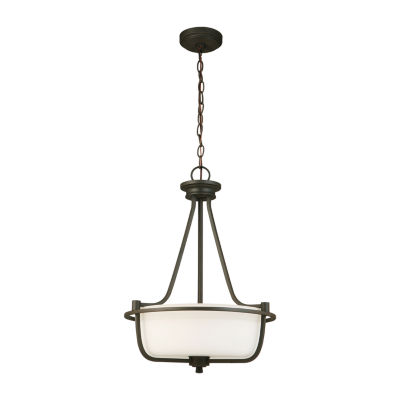 Eglo Mayview 3-Light 16 inch Matte Bronze Inverted Pendant Ceiling Light