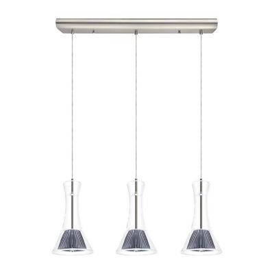 Eglo Musero LED 5 inch Matte Nickel Multi Light Pendant Ceiling Light