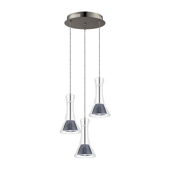Eglo Musero LED 11 inch Matte Nickel Multi Light Pendant Ceiling Light