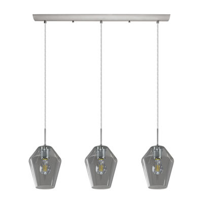 Eglo Murmillo 3-Light 30 inch Matte Nickel Linear Pendant Ceiling Light