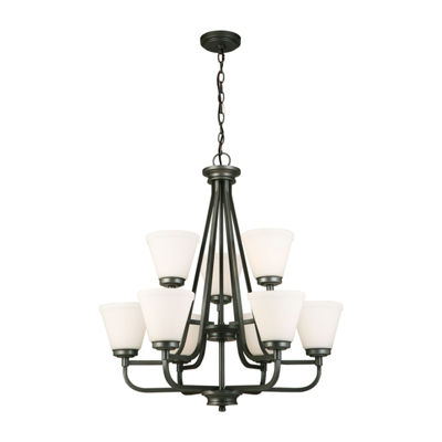 Eglo Mayview 9 Light 27 inch Chandelier Ceiling Light